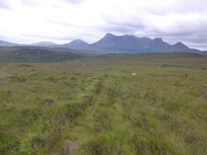The lonely Moine Path from Loch Hope to the Kyle of Tongue